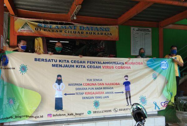 BNN Kabupaten Bogor Pasang Media Informasi di Pusat Keramaian